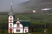 église de husavik à husavik harbor, islande — Photo