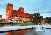 Ayuntamiento de oslo, noruega — Foto de Stock