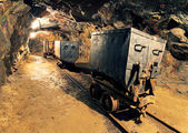 Underground mine tunnel, mining industry — Foto de Stock