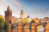 карлов мост в праге, чешская республика — Стоковое фото