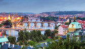 Prague cityscape at twilight — Stock Photo