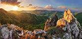 Rocky moutain at sunset - Slovakia — Stock Photo