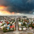 Reykjavik cityspace, time lapse at sunset — Stock Video #50885407