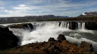 Iceland waterfall - Godafoss — Stock Video