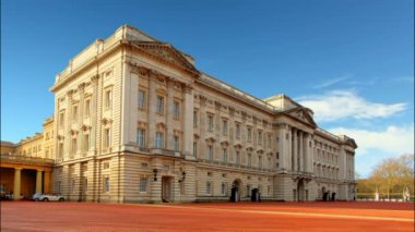 Buckingham Palace in London - Time lapse — Stock Video