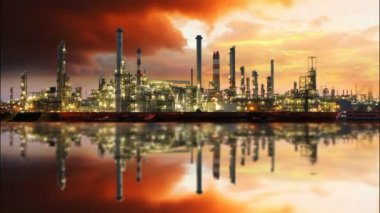 Oil refinery, time lapse — Stockvideo