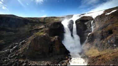 Iceland waterfall — Stock Video
