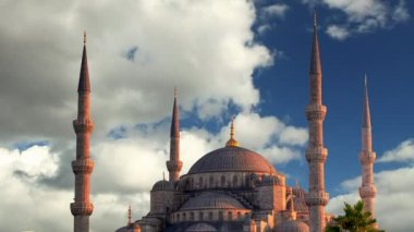 Istanbul at day - blue mosque — Vídeo Stock