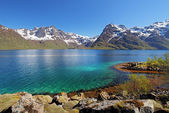 Moutain and lake sea landcape in Norway — Stock Photo