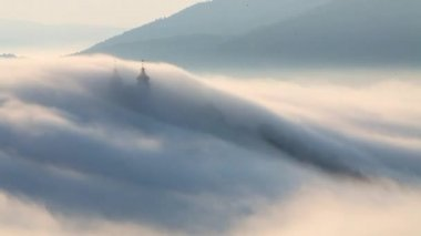 Clouds over hill, Slovakia — Stock Video