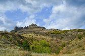 At the bottom of the mountain in Crimea, Ukraine — ストック写真