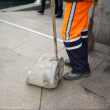 Street sweeper — Stock Photo