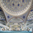 Beautiful interior architecture of Fatih Sultan Mehmet Mosque, Istanbul — Stock Photo