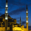 Magnificient Blue Mosque (Sultanahmet) at twilight — Stock Photo
