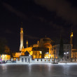 Hagia Sophia at night — Foto Stock