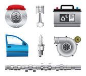 Car parts set — Stock Vector