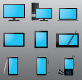 Conjunto de iconos de computadora — Vector de stock