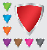 Colorful shield set — Stock Vector