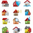 Home security icons — Stock Vector #37379317
