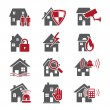 Stock Vector: House security icons