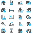 Real Estate Icons — Stock Vector #39858973