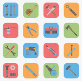 Tools Icons Set - Flat — Stock Vector