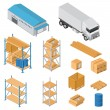 Warehouse equipment icons — Stock Vector #41850985