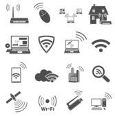 Ícones de comunicação web — Vetor de Stock