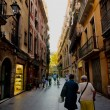 Barcelona streetlight — Stock Photo