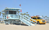 Lifeguard tower at Santa Monica — Stock Photo