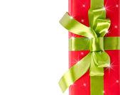 Noel hediye kutusu ile yıldız — Stok fotoğraf