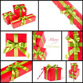 圣诞礼品盒组合 — 图库照片