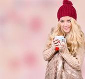 Vintern flicka — Stockfoto