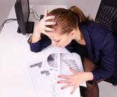 Emotional business woman — Stock Photo