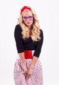 Geek girl — Stock Photo