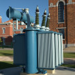 Stock Photo: Old power transformer