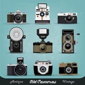 Vintage Camera Set — Stock Vector