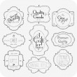 Hand Drawn VIntage Label Set - Stock Photo