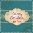 Blue Vintage Christmas Card — Stock Photo