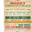 Vintage Christmas And Happy New Year Background With Typography — Stock Photo