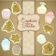 Cupcake And Honey Cake Collection — Stock Photo #19230933