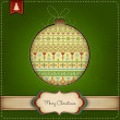 Decorative Christmas Ball Background — Stock Photo