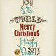 Vintage Christmas And Happy New Year Background With Typography — Стоковое фото #19230969