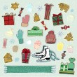 Christmas decoration and winter things — Stock Photo