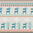 Seamless Knitted Pattern With Deer — Stock Photo #19231109