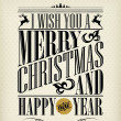 Vintage Christmas And Happy New Year Background With Typography — Stockfoto