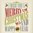 Vintage Christmas And Happy New Year Background With Typography — Foto de Stock