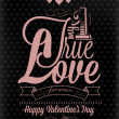 Royalty-Free Stock Photo: Happy Valentine\'s Day Hand Lettering - Typographical Background