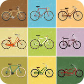Vintage Retro Bicycle Background — Stock Photo