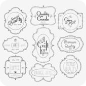 Hand Drawn VIntage Label Set — Stock Photo